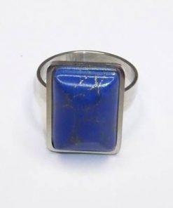 Inel reglabil cu lapis lazuli si metal nobil