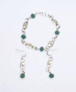 Set mistic cu smarald industrial si elemente de bun augur