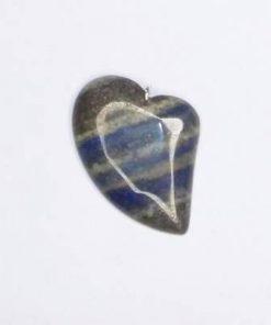 Pandantiv in forma de inima din cristal de lapis lazui