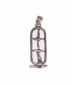 Pandantiv din argint cu simboluri egiptene