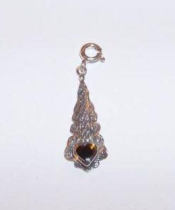 Pandantiv din argint cu cristal de obsidian