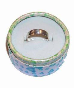 Inel din argint cu model alb - unicat