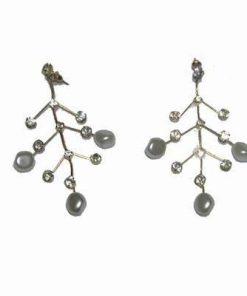 Cercei placati cu aur si perle industriale - Copacul Vietii