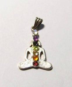 Buddha argintat cu cristalele celor 7 chakre - deosebit !