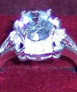 Inel din argint cu cristale de stanca - unicat!