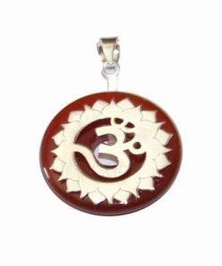 Chakra Vishuddha din argint si carneol