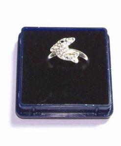 Inel din argint cu cristale Swarovski - marime mica