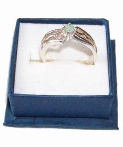 Inel din argint cu cristal smarald