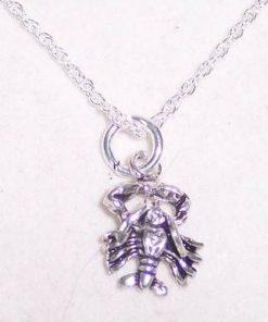 Zodia Rac din argint, pe lant de argint