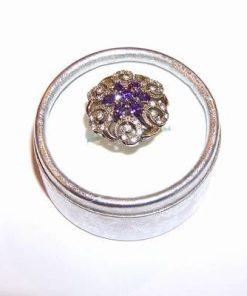 Inel din argint cu cristal de ametist