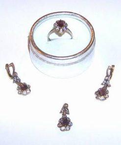 Set din argint cu cristale de ametist