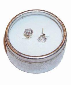 Cercei din argint cu cristale multifatetate