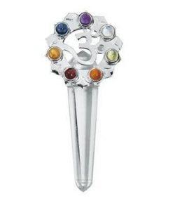 Pandantiv argintat cu cristalele celor 7 chakre