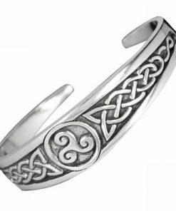 Bratara celtica cu cele 3 tipuri de noroc din aliaj