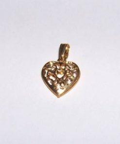 Pandantiv placat, in forma de inima