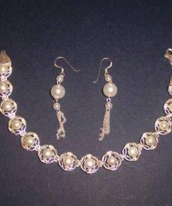 Set - Cercei si bratara din argint cu perle de cultura