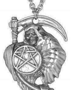 Pandantiv unisex din metal nobil cu pentagrama