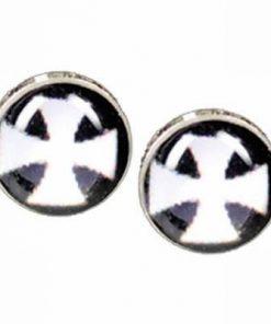 Cercei din argint - crucea malteza