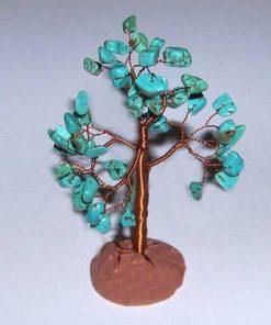Copacel cu cristale de turcuaz pe suport
