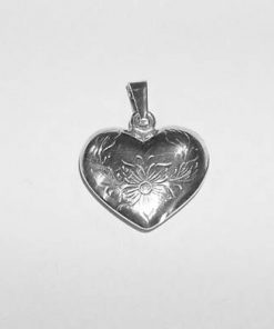 Pandantiv din argint in forma de inima
