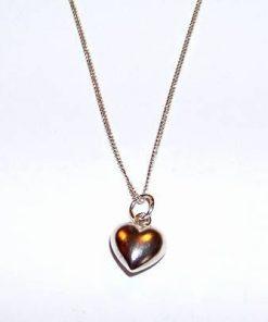 Pandantiv din argint - Inima, pe lantisor din argint