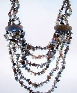Colier XL din cristale de agat