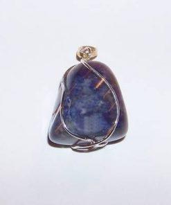Pandantiv din lapis lazuli in montura din argint
