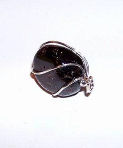 Pandantiv din granat in montura din argint