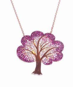 Pandantiv - Copacul Vietii din argint, placat cu aur galben