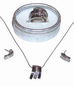 Set din argint cu cristale Swarovski