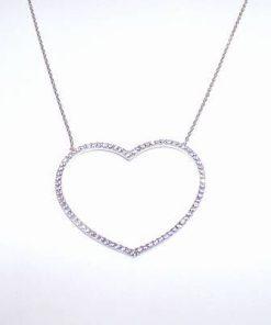 Pandantiv din argint pe lant din argint - Inima