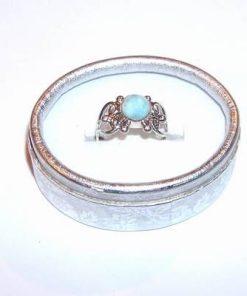 Inel din argint cu cristal de larimar