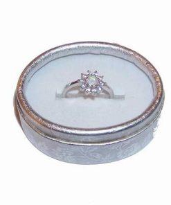 Inel din argint cu cristal de opal roz