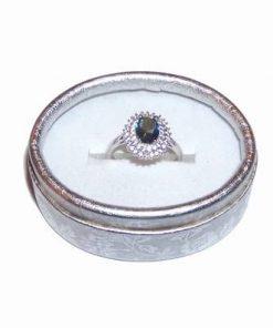 Inel din argint cu topaz mistic, multifatetat