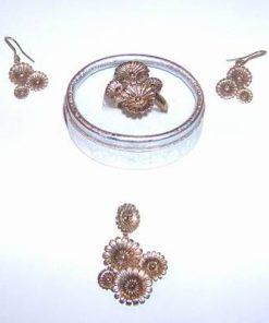 Set din argint placat cu aur - vintage