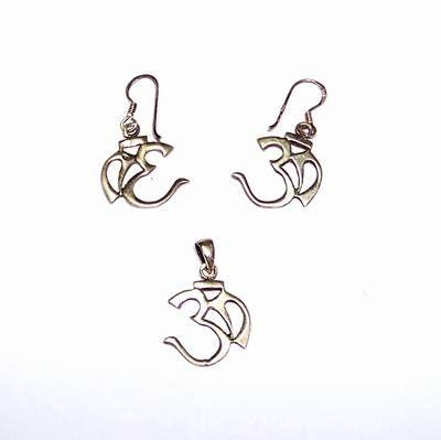 Set din argint cu simbolul Tao/OM