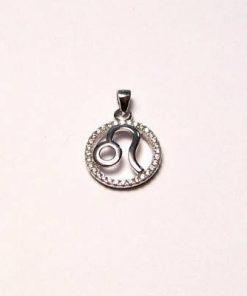 Pandantiv din argint cu strasuri - zodia Leu