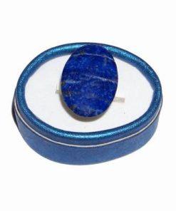 Inel din argint, reglabil, cu cristal de lapis lazuli