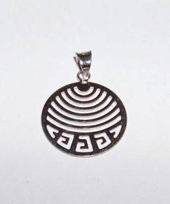 Pandantiv din argint cu Simbolul Sanatatii stilizat - dama