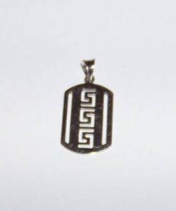 Pandantiv din argint cu Simbolul Sanatatii stilizat - barbat