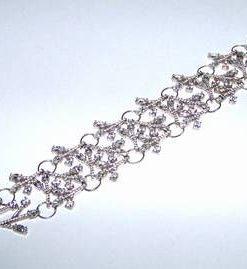 Bratara puterii din argint, cu cristale multifatetate