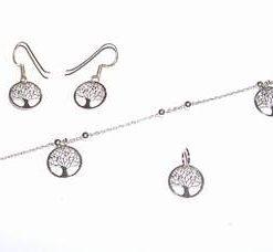 Set din argint cu Copacul Vietii