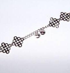 Bratara din argint cu nodul mistic stilizat