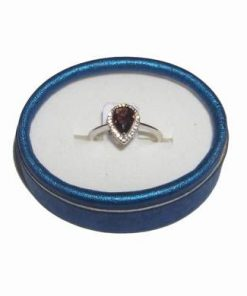 Inel din argint cu cristal de granat