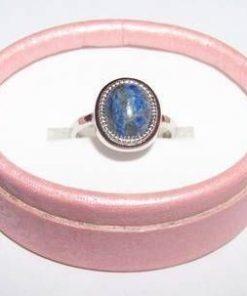 Inel din Cyanit si argint 925 pentru protectie divina