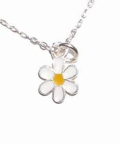 Pandantiv din argint pe lant de argint cu floare vietii