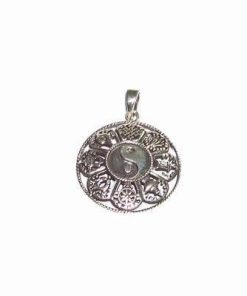 Pandantiv Feng Shui din argint cu cele 8 simboluri norocoase