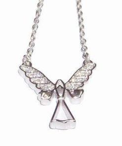 Colier cu Ingeras din argint 925 cu cristale magice