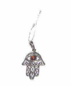 Pandantiv din argint 925 cu palma lui fatima sau HAMSA