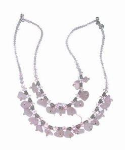 Colier din cristale de cuat roz pentru dragoste